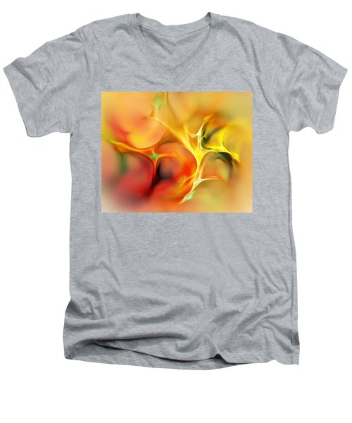 Abstract 061410a Men's V-Neck T-Shirt