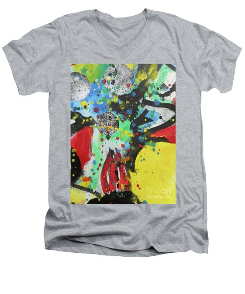 Abstract-1 Men's V-Neck T-Shirt