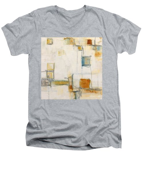Abstract 1207 Men's V-Neck T-Shirt by Gallery Messina