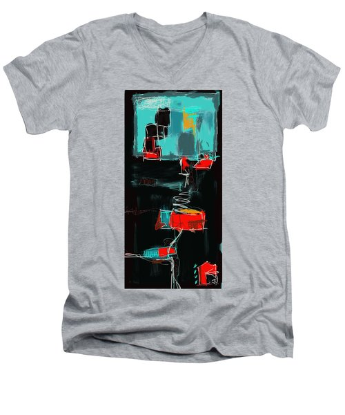 Abstract - 21nov2016 Men's V-Neck T-Shirt by Jim Vance