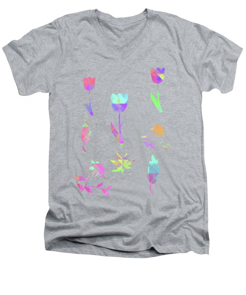 Abstract 433 Men's V-Neck T-Shirt