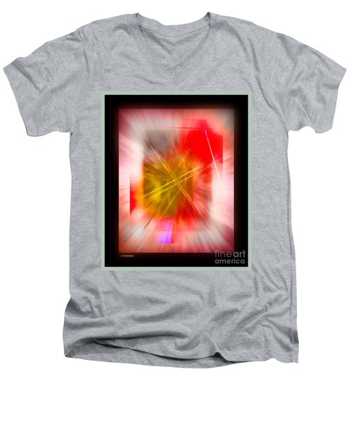Abstract 530-2016 Men's V-Neck T-Shirt by John Krakora