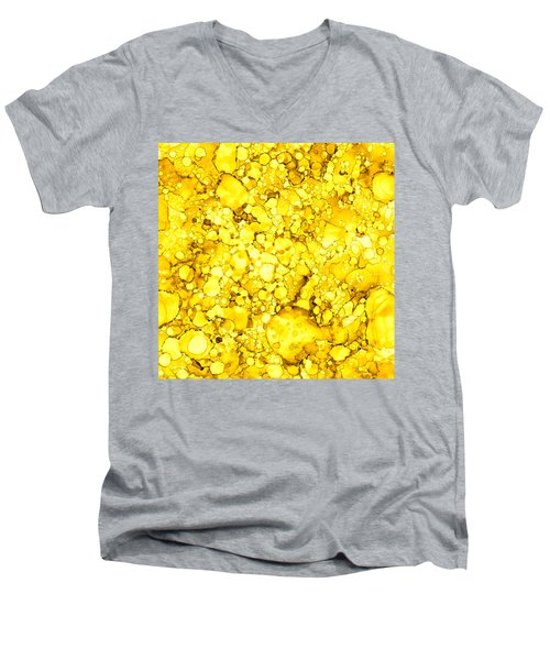 Abstract 7 Men's V-Neck T-Shirt by Patricia Lintner