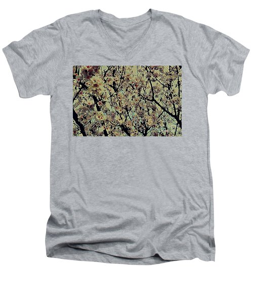 Abstract Blossoms Men's V-Neck T-Shirt