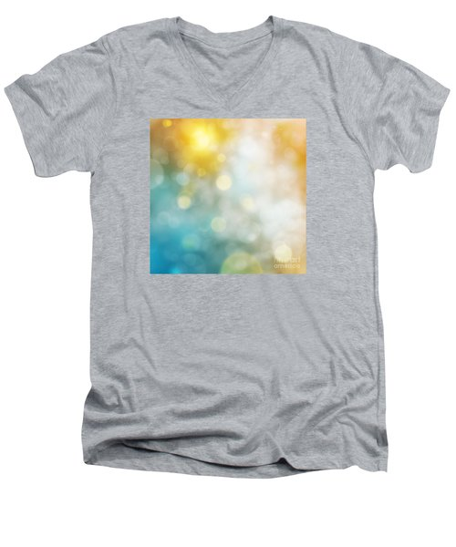 Abstract Bokeh Men's V-Neck T-Shirt