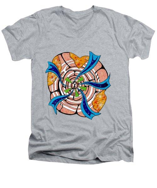 Abstract Digital Art - Ciretta V3 Men's V-Neck T-Shirt by Cersatti