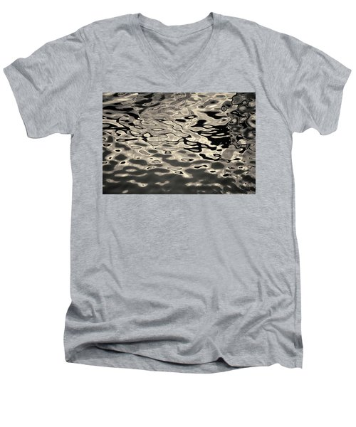 Abstract Dock Reflections I Toned Men's V-Neck T-Shirt