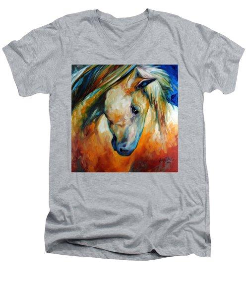 Abstract Equine Eccense Men's V-Neck T-Shirt by Marcia Baldwin