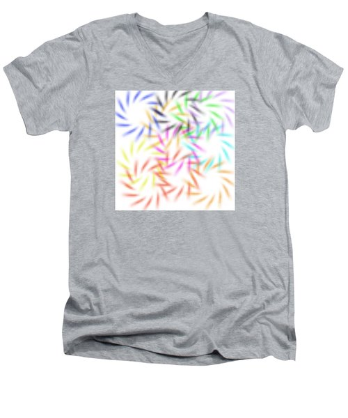 Abstract Fireworks Men's V-Neck T-Shirt