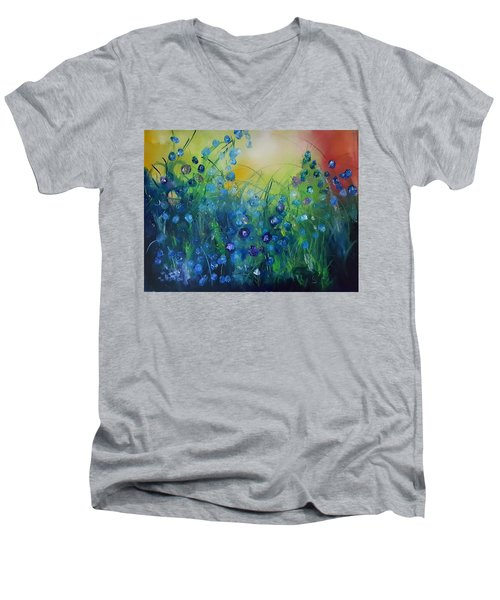 Abstract Flax           31 Men's V-Neck T-Shirt