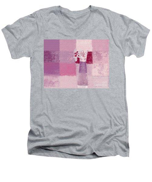 Abstract Floral - 11v3t09 Men's V-Neck T-Shirt