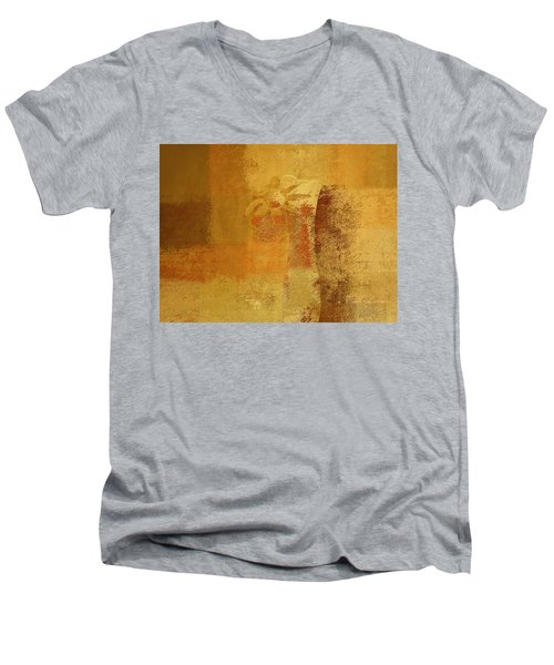 Abstract Floral - 14v2ct01a Men's V-Neck T-Shirt by Variance Collections