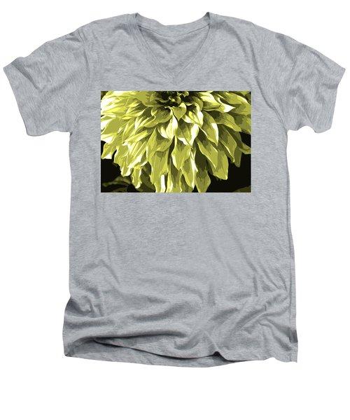 Abstract Flower 5 Men's V-Neck T-Shirt