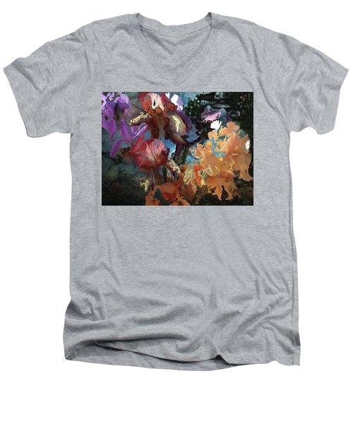 Abstract Flowers Of Light Series #15 Men's V-Neck T-Shirt