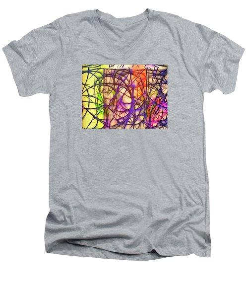 Abstract Fun 11 Men's V-Neck T-Shirt