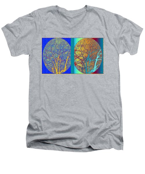 Abstract Fusion 276 Men's V-Neck T-Shirt by Will Borden