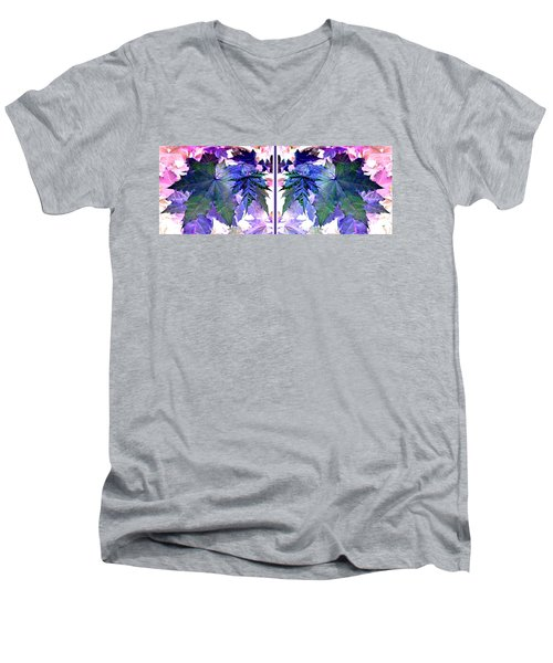 Abstract Fusion 277  Men's V-Neck T-Shirt by Will Borden