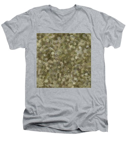Men's V-Neck T-Shirt featuring the photograph Abstract Gold And Cream 2 by Clare Bambers
