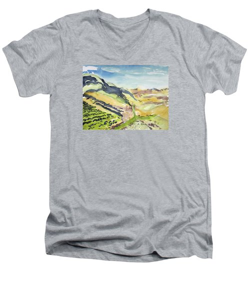 Abstract Hillside Men's V-Neck T-Shirt