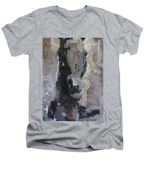Abstract Horse Painting Men's V-Neck T-Shirt