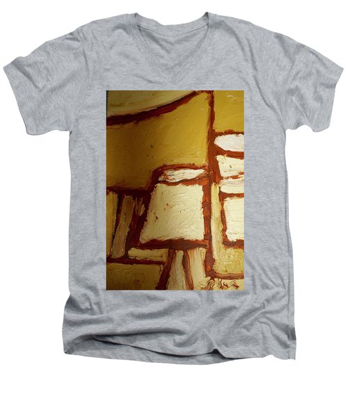 Abstract Lamp Number 4 Men's V-Neck T-Shirt