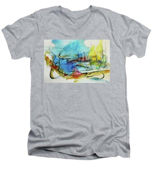 Abstract Landscape #1 Men's V-Neck T-Shirt