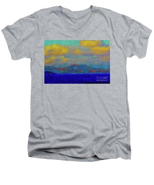 Abstract Landscape Expressions Men's V-Neck T-Shirt