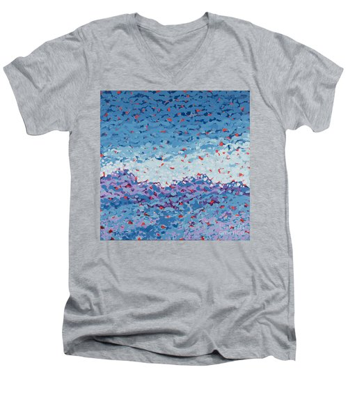 Abstract Landscape Painting 1 Men's V-Neck T-Shirt