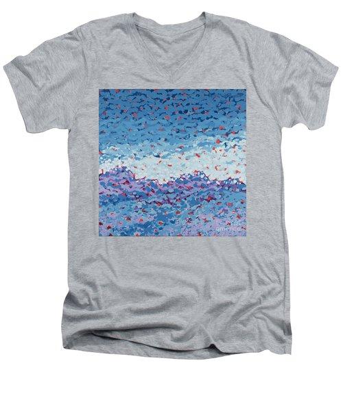 Abstract Landscape Painting 1 Men's V-Neck T-Shirt
