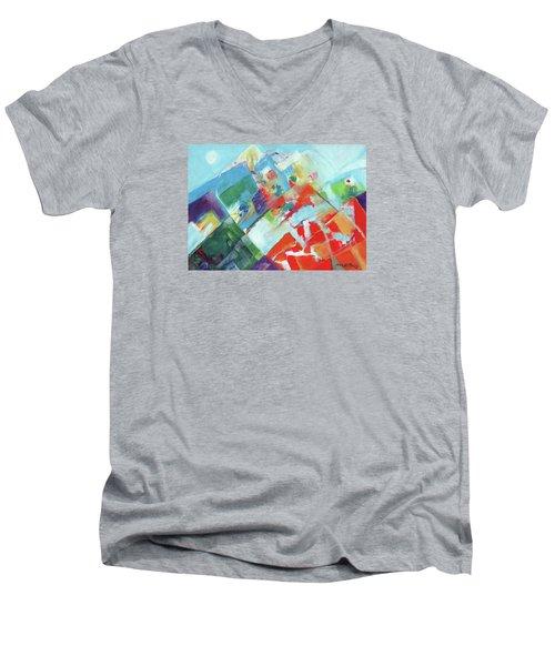 Abstract Landscape1 Men's V-Neck T-Shirt
