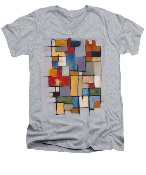 Abstract Line Series  Men's V-Neck T-Shirt