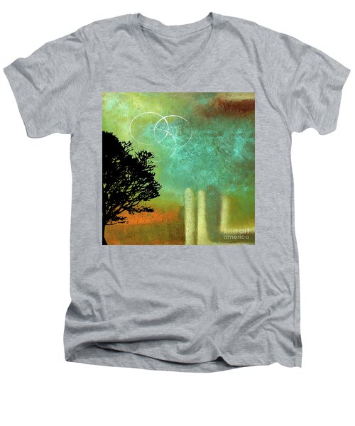 Abstract Modern Art Eternity Men's V-Neck T-Shirt
