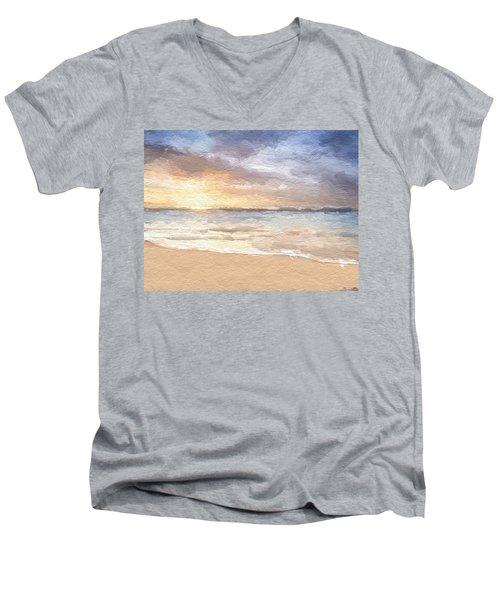 Abstract Morning Tide Men's V-Neck T-Shirt