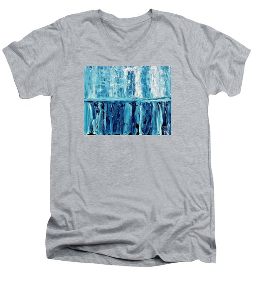 Abstract Niagra Falls Men's V-Neck T-Shirt