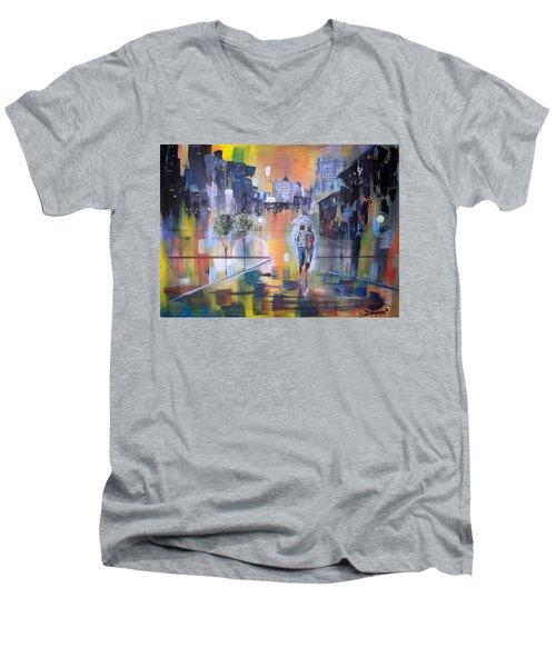 Abstract Of Motion Men's V-Neck T-Shirt