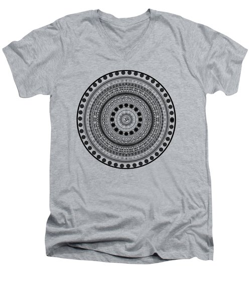 Abstract Om Mandala Men's V-Neck T-Shirt