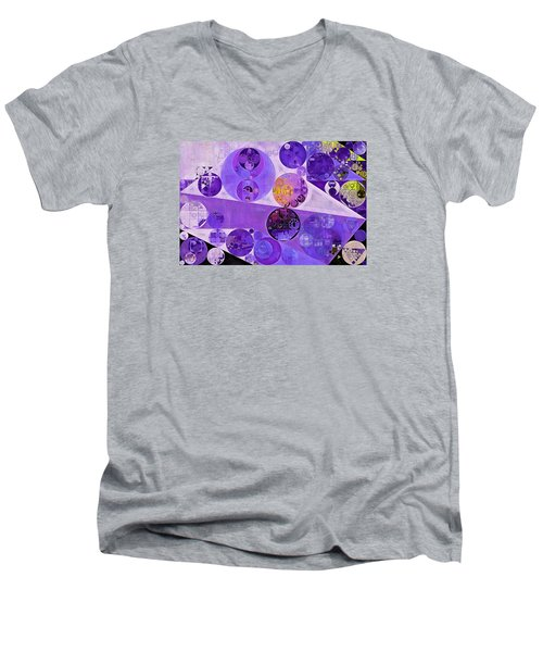 Abstract Painting - Blackcurrant Men's V-Neck T-Shirt