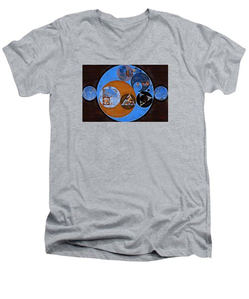 Abstract Painting - Rock Blue Men's V-Neck T-Shirt