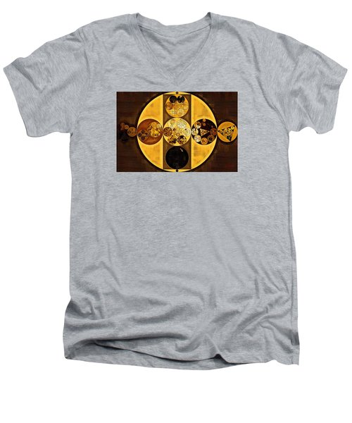 Abstract Painting - Sepia Men's V-Neck T-Shirt