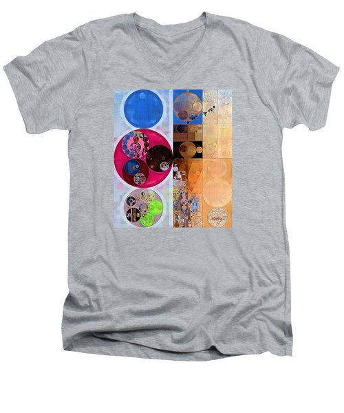 Abstract Painting - Wafer Men's V-Neck T-Shirt