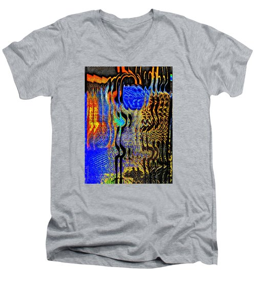 Men's V-Neck T-Shirt featuring the photograph Abstract Photography 001-16 by Mimulux patricia no No