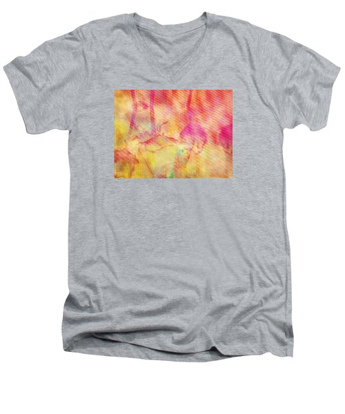 Men's V-Neck T-Shirt featuring the photograph Abstract Photography 003-16 by Mimulux patricia no No