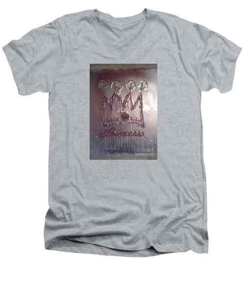 Abstract Princess Dreams Of Grandeur Men's V-Neck T-Shirt by Talisa Hartley
