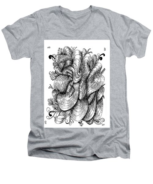 Abstract Men's V-Neck T-Shirt by Quwatha Valentine