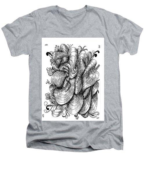 Abstract Men's V-Neck T-Shirt