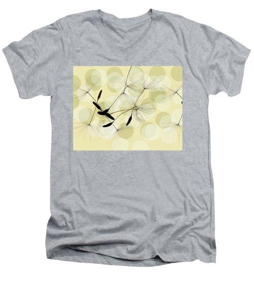 Abstract Botanical Men's V-Neck T-Shirt