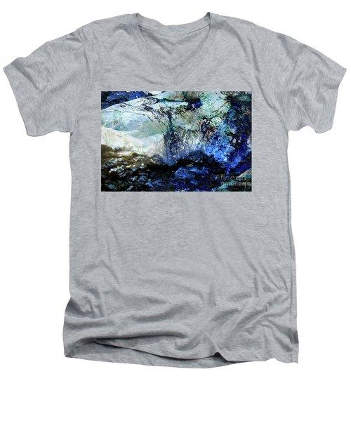 Abstract Runoff Men's V-Neck T-Shirt