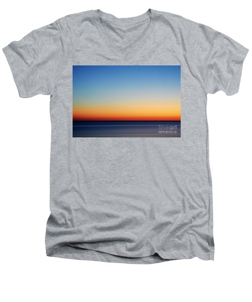 Abstract Sky Men's V-Neck T-Shirt