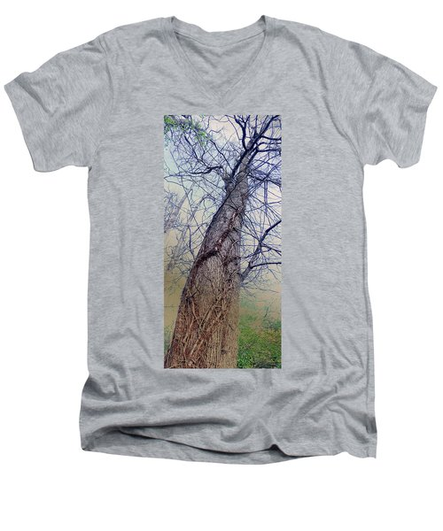 Abstract Tree Trunk Men's V-Neck T-Shirt
