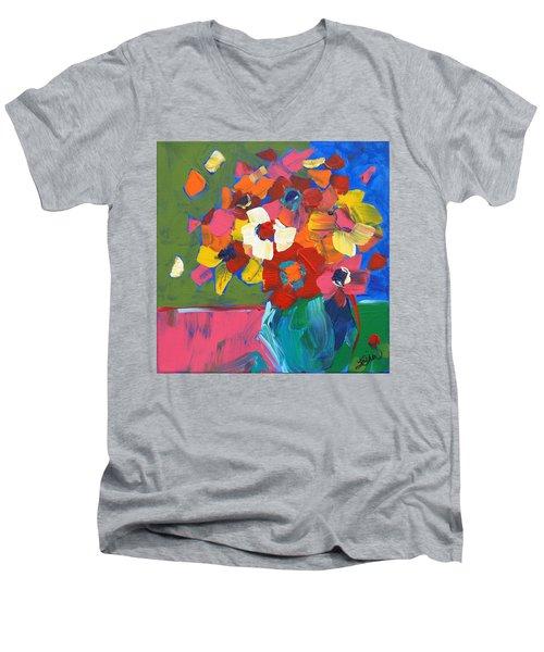 Abstract Vase Men's V-Neck T-Shirt by Terri Einer